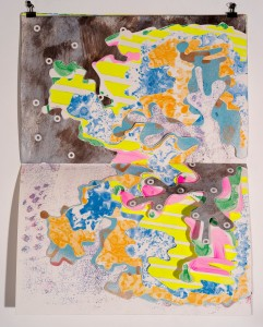 Untitled, from the <i>painting cutout series</i><br>Wax and pigments on cotton rag papers cut 18x24in