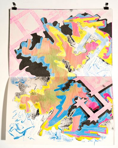 Untitled, from the <i>painting cutout series</i><br>Julien Gardair painting cutout